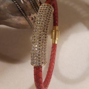 Jewelry - Leather strap bangle